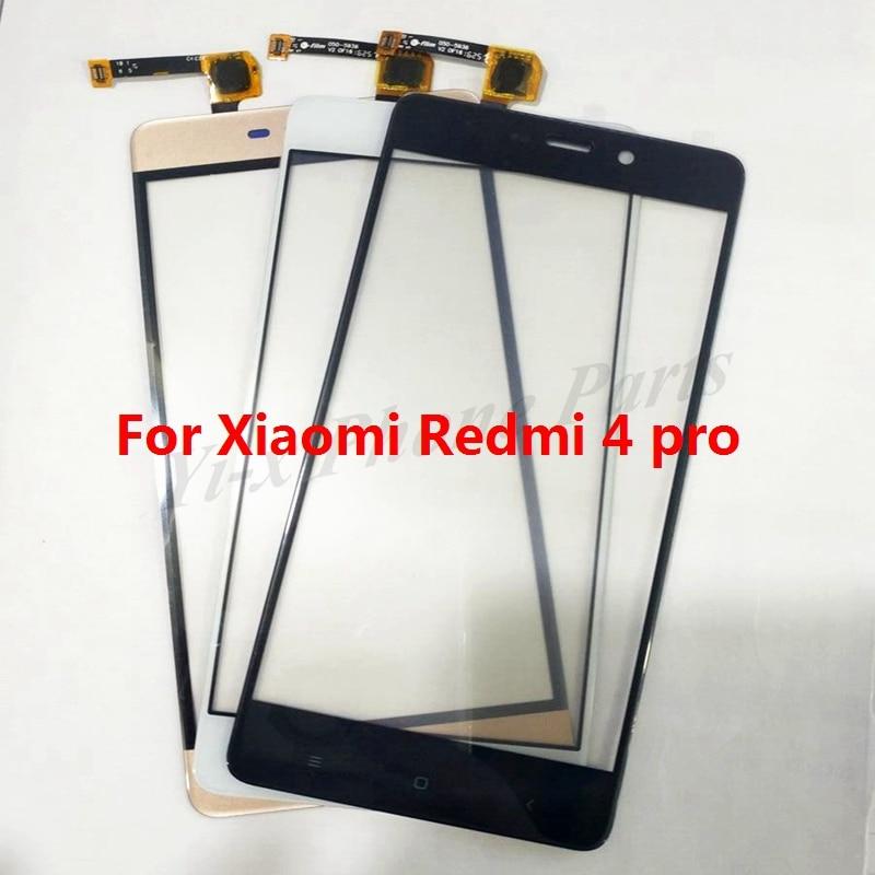 10x frente touch screen sensor digitador lente de vidro para xiaomi redmi 4 pro