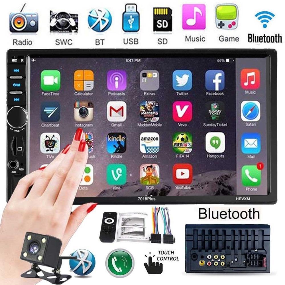 "2 Din Autoradio Autoradio 7 ""HD Multimedia-Player Touchscreen Auto Audio Auto Stereo MP5 Bluetooth USB TF FM Kamera Doppel Din"
