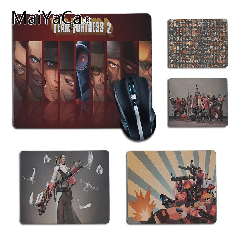 MaiYaCa  Team Fortress 2 Silicone Pad to Mouse Game for LOL Game Playing Lover custom mouse pad Cool Gaming Mouse Pad Gamer custom original night and cat nature series mouse pad
