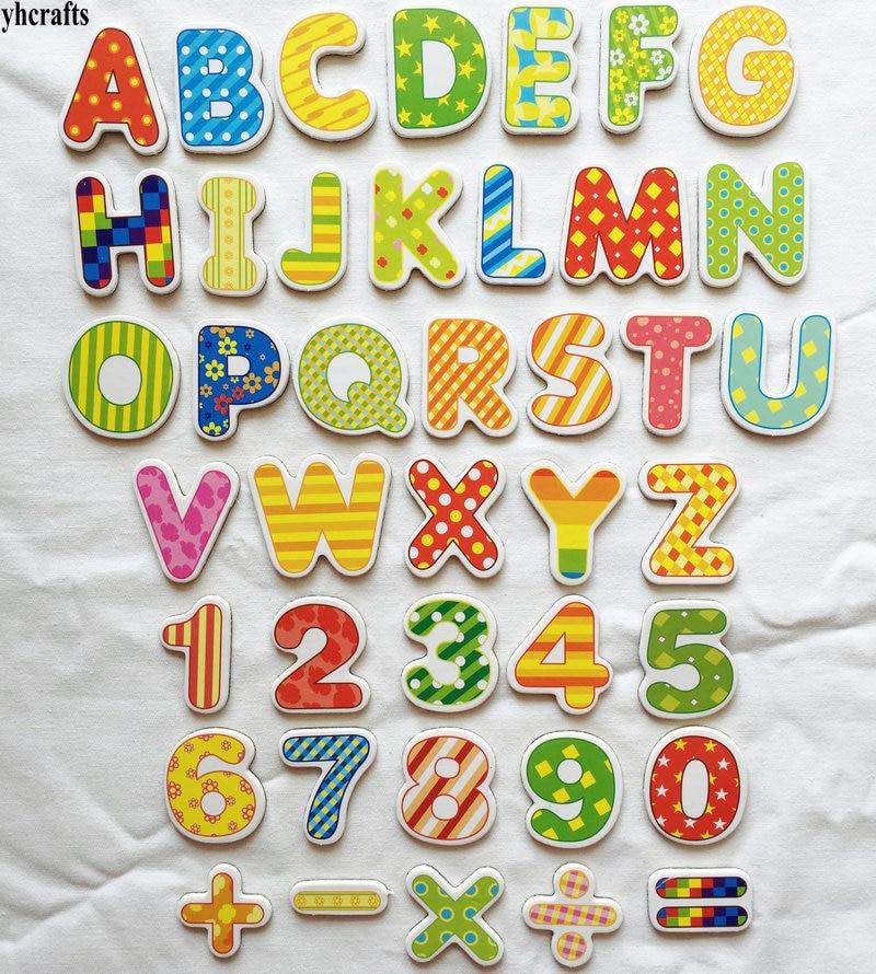 41 шт./лот. Буквы. Цифры. Математический мягкий магнит, белый магнит для доски. Товары для детского сада. Учите свой собственный. Математически...