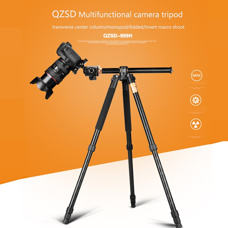 Q999H Professionelle Kamera Stativ 61 Inch Tragbare Multifunktions Aluminium Stativ für Canon Nikon Sony SLR DSLR Kameras