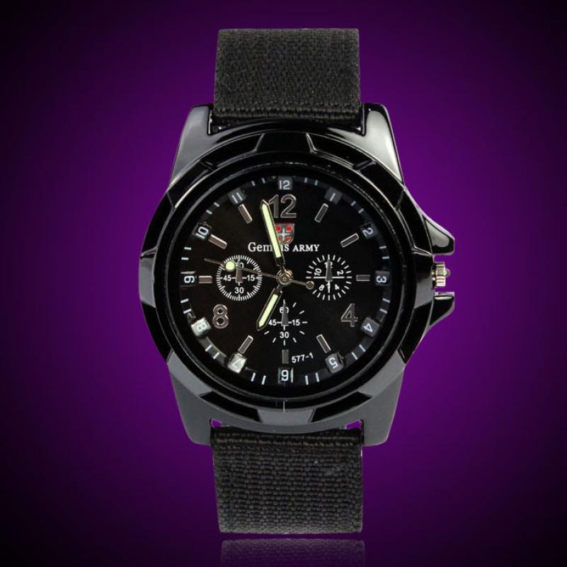Marca superior de luxo famoso masculino relógio moda gemius exército força corrida militar esporte masculino oficial tecido banda relógios mais novo 60p