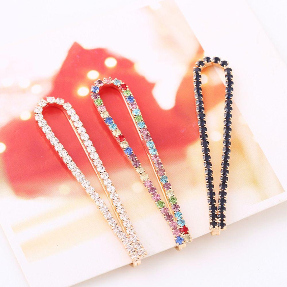 1 pc preto branco feminino cristal rehinstone moda hairpins liga barrette grampos de cabelo pinos barrettes acessórios para o cabelo