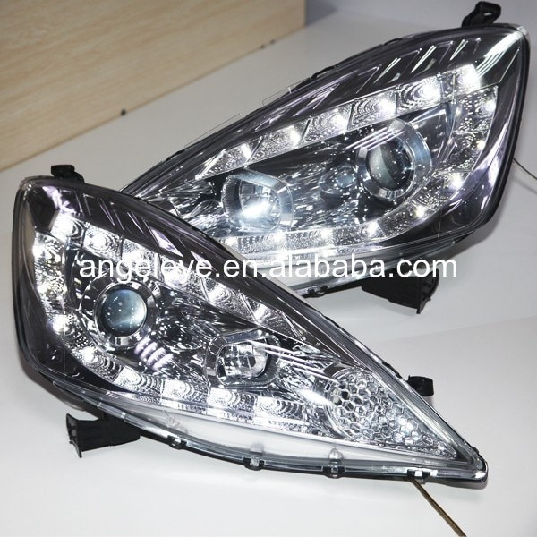For Honda for Fit Jazz LED Head Lamp Headlights front light 2009-2010 year Chrome Housing JY