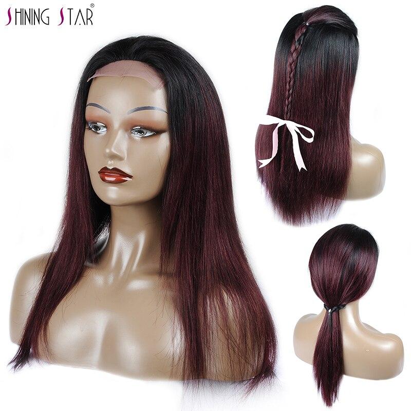 شعر مستعار برازيلي ناعم ، شعر بشري ، مظلل ، مظلل ، أسود وبورجوندي ، 4 × 4 ، شعر غير ريمي ، كثافة 180 ، للنساء الأفريقيات