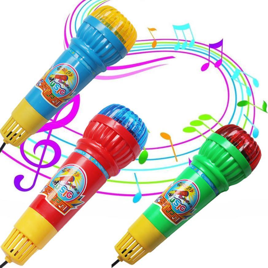 2018 neue Drahtlose Instrument Spielzeug für Mädchen junge Baby Echo Mikrofon Mic Voice Changer Geschenk Geburtstag Präsentieren Kinder Party SongGJ