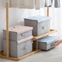 storage box wardrobe clothing organizer with lids folding home multifunction sundries toy clothes makeup organizer case