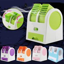 Mini USB Kleinen Ventilator Kühlung Portable Desktop Dual Blattloser Klimaanlage