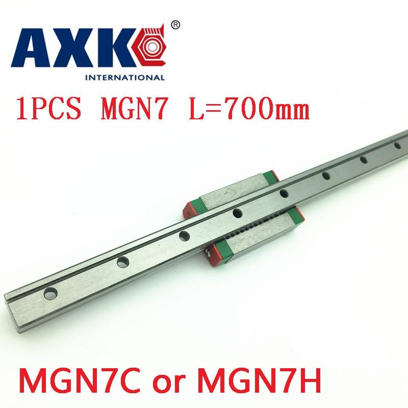2019 MGN7 AXK lineal para guía lineal de 7mm Mgn7 L = carril lineal de 700mm + Mgn7c o Mgn7h carro lineal largo para eje Cnc X Y Z
