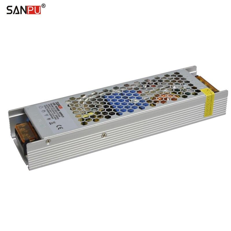 SANPU-وحدة إمداد طاقة LED رفيعة 24 فولت SMPS ، 300 واط 12 أمبير تيار متردد إلى تيار مستمر ، محول 24 فولت ، بدون مروحة للاستخدام الداخلي