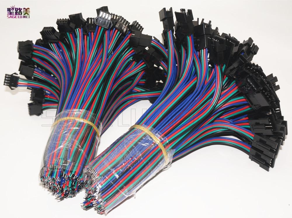 2pin 3pin 4pin 5pin conector do diodo emissor de luz macho/fêmea jst sm 2 3 4 5 pinos plug conector cabo de fio para led tira luz lâmpada motorista cctv