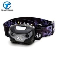 Headlamps LED Headlight Waterproof USB Charge Motion Sensor Portable Lighter Adjustable Flashlight For Camping Running HeadLamp