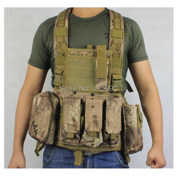 Tático m4 rrv equipamento de peito paintball colete airsoft colete militar molle kryptek highlander equipamento peito