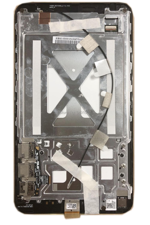 Montaje de cristal digitalizador de pantalla táctil LCD LED con marco para ASUS Fonepad 8 tableta negra 076-0809 FE380CG FE380CXG ME380 K016