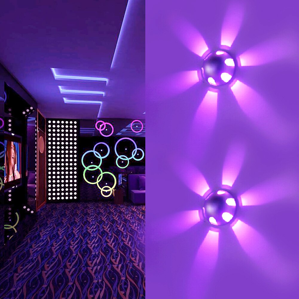 3W LED Wall Light Round Ball Aluminum Sconce AC85-265V Indoor Bulb Modern Creative LampFor Bar KTV Hotel Wall Decoration JQ
