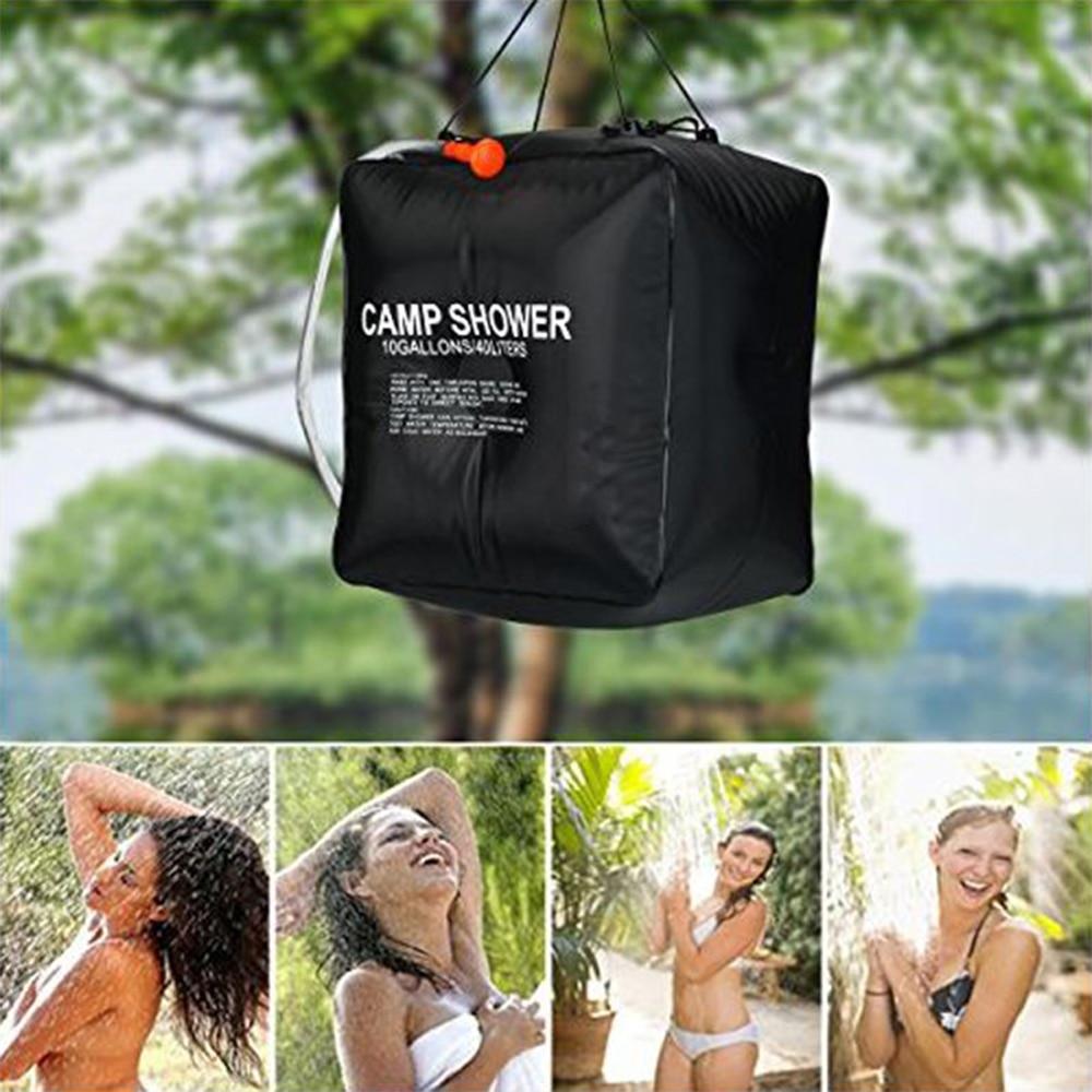 Chuveiro portátil ao ar livre saco de banho 20/40l saco de chuveiro aquecido solar para viajar acampamento caminhadas escalada limpeza do corpo