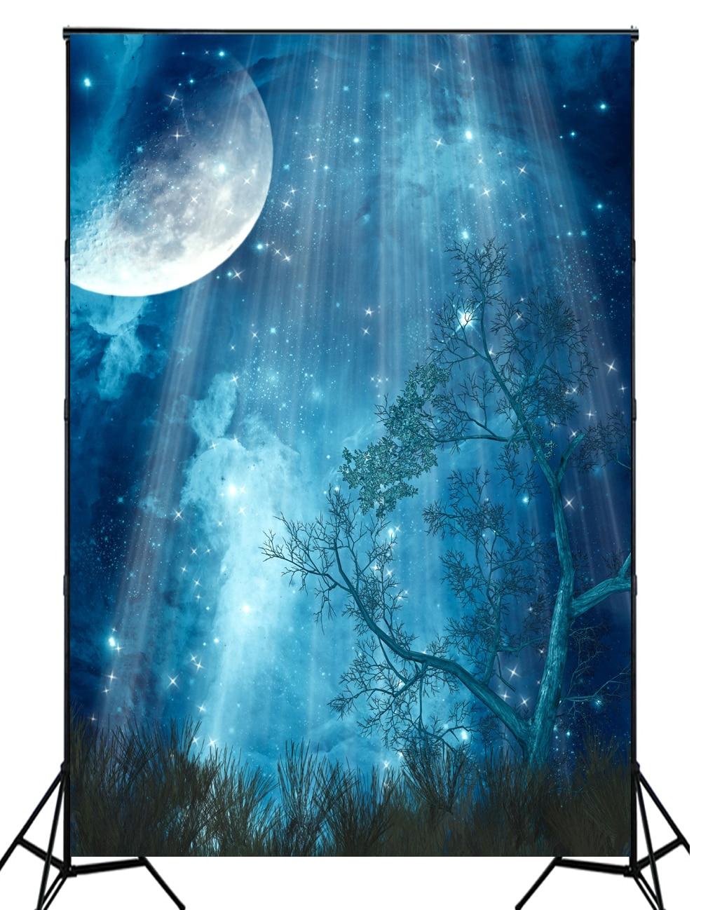 HUAYI Big Noche De Luna fotografía calabaza Halloween telón de fondo XT4232