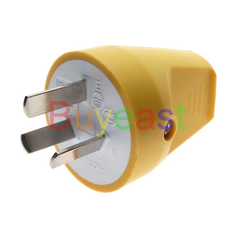 1 X AU, China, New Zealand (type I) 3 Pin Male Rewireable Plug AC100~250V 10A Back Entry