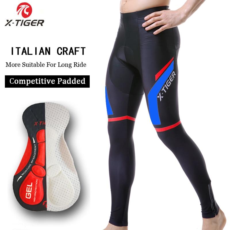 Pantalones térmicos con almohadilla de Gel 5D para Ciclismo, X-TIGER, para Invierno,...
