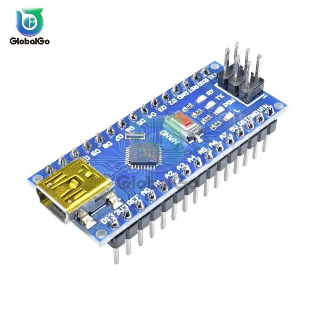 CH340 Version NANO V3.0 ATMEGA328P-MU Mini Chip Mini USB Controller Compatible for Arduino USB Driver