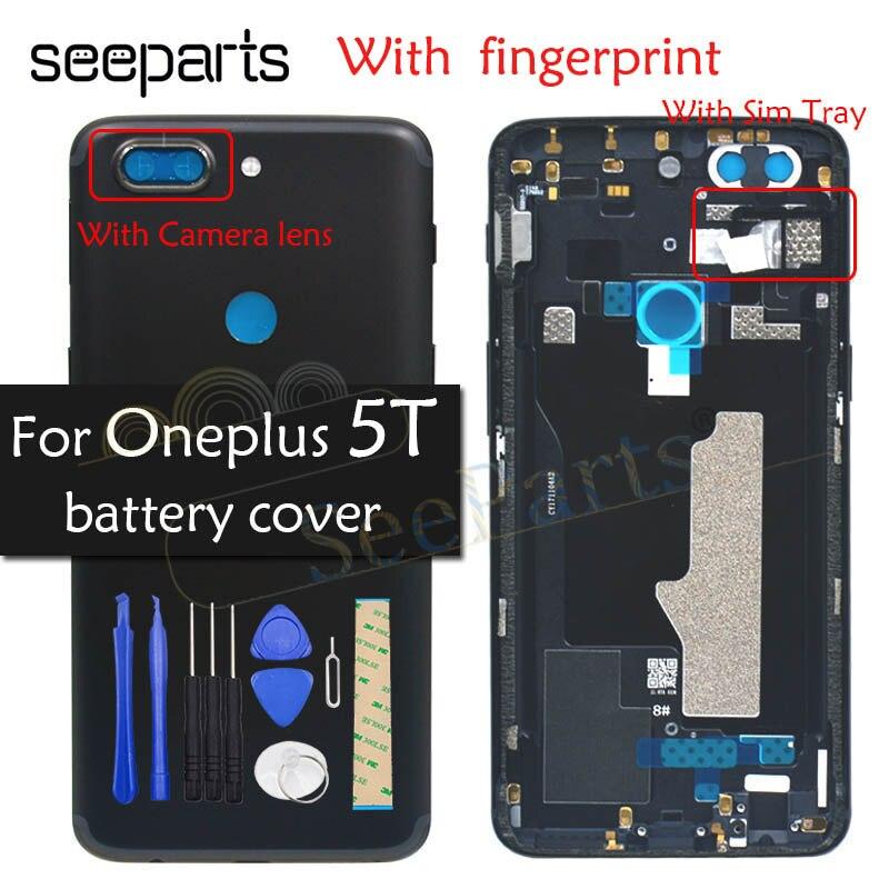 Оригинальный задний корпус OnePlus A5010 5T крышка батареи Задняя Дверь Корпус чехол один плюс замена OnePlus 5T крышка батареи