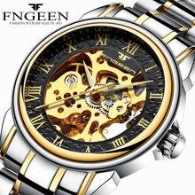Skeleton Automatic Mechanical Watches for Men Top Brand Luxury Tourbillon Wrist Watch Waterproof Steel Black Watch Reloj Hombre
