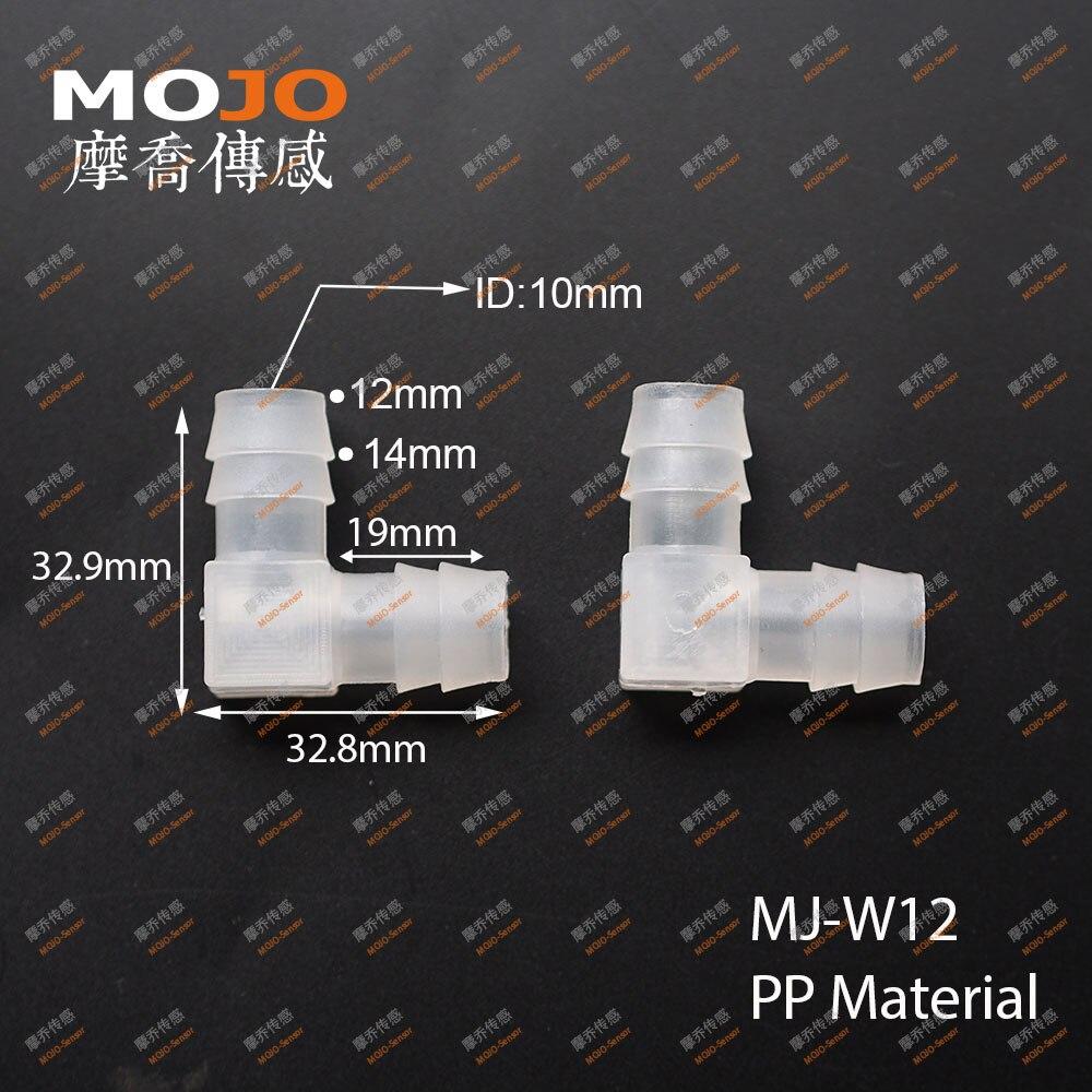 2020 MJ-W12(1000 قطعة/السلع) PP خرطوم مشتركة الكوع نوع مشترك 12 مللي متر الأنابيب موصلات مواسير