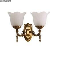 gold modern led indoor wall lamp bronze sconce glass nordic wall light Home art bedside Loft living room E27 bed hotel light