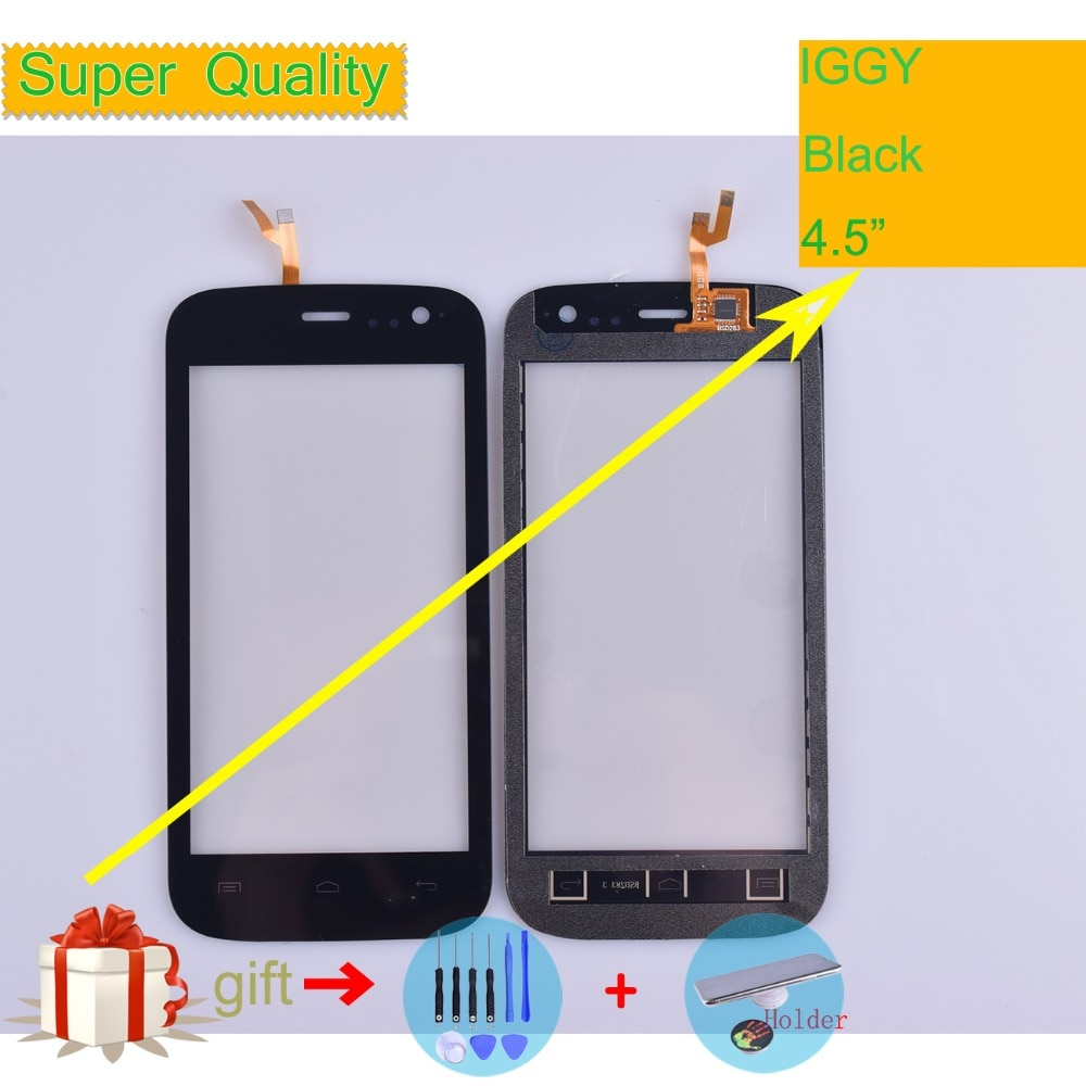 For Wiko iGGy Touch Screen Panel Sensor Digitizer Front Outer Glass Touchscreen iggy Touch Panel Replacement Black недорого