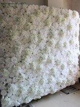 TONGFENG Wedding 3D flower wall panel Artificial silk rose peony wedding backdrop decoration flower runner wedding 10pcs/lot