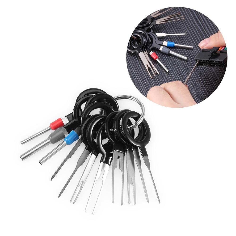 FURUIX pdr инструменты 11 * инструмент для удаления клемм автомобильный электропроводка обжимной разъем контактный экстрактор комплект