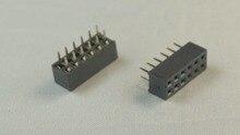 20 pcs 2x6 P 12 Pin 2.00mm Cabeçalho Pin Headers Feminino dupla row Em Linha Reta Através Do Orifício do Isolador altura 4.30mm Rohs