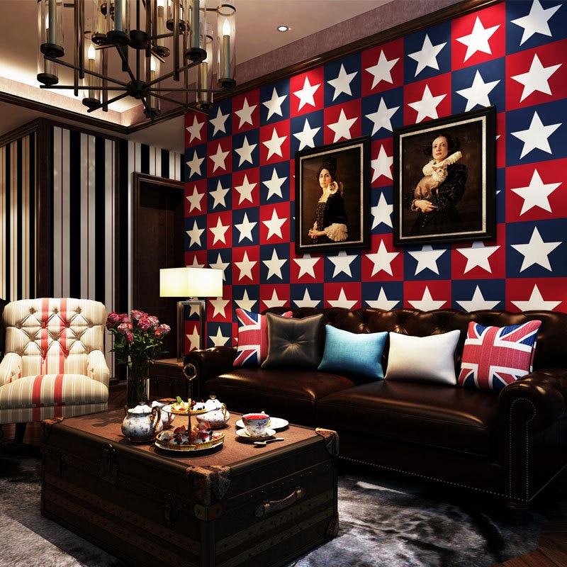 Wellyu bandera americana de alta gama de papel tapiz de papel puro dormitorio sofá fondo de pantalla Azul Mediterráneo
