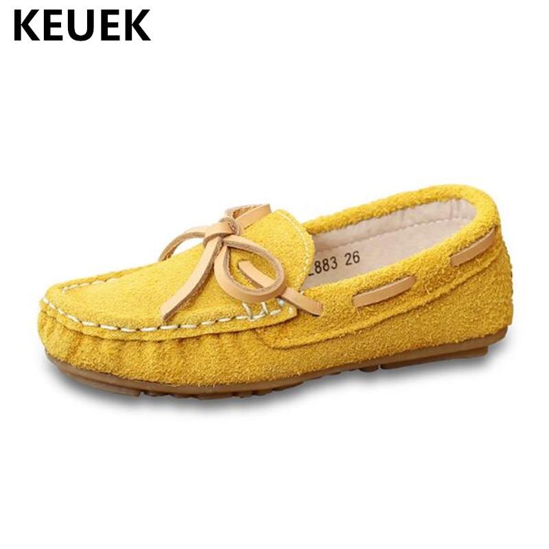 Novedad PRIMAVERA/otoño mocasines de piel auténtica para niños, mocasines para niños y niñas, zapatos transpirables de bebé, zapatos de cuero para niños pequeños 04