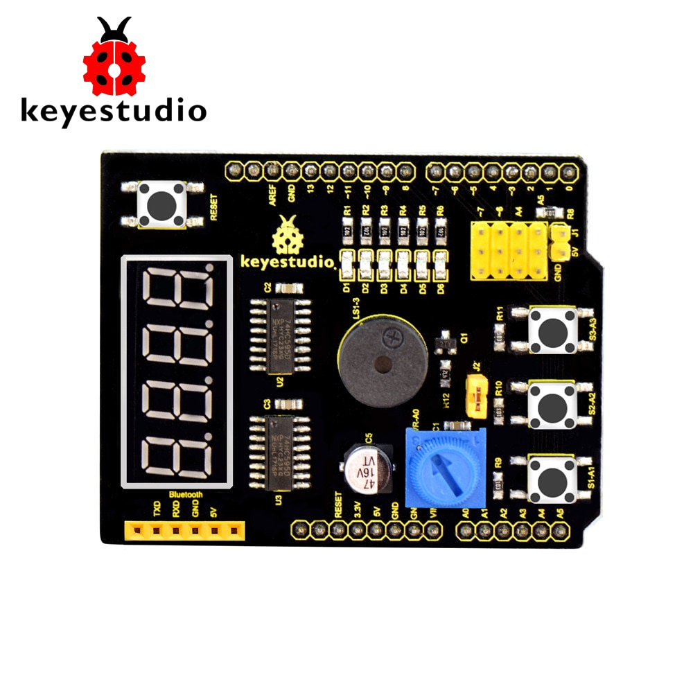 Free shipping !keyestudio Multi-purpose shield V2 W/Gift Box for Arduino starter