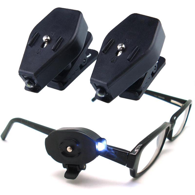 Мини-зажим с зажимом, 1 шт., светодиодный светильник для чтения, очки белого и яркого цвета, для чтения [товары для дома