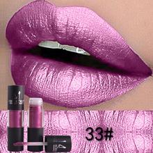 Diamant Metallic Lippenstift Lip Tint Make-Up 12 Farben Sexy Shimmer Lange Anhaltende Flüssigkeit Lip Gloss Farbe Pigment Wasserdichte Kosmetische
