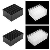 1 pc Desk 30/40 Slots Black/White Marker Pen Storage Holder Brush Pencil Rack Table Stand Organizer Multifunction Tool
