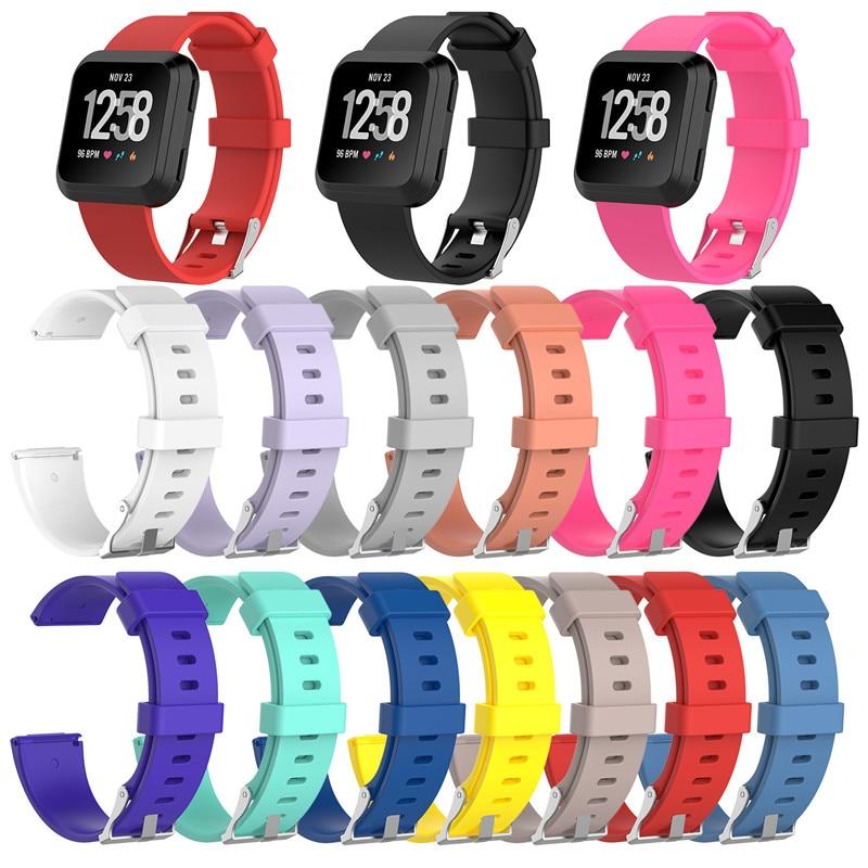 (Kup 3 dostać 1 za darmo) wymiana gumy silikonowej pasek na rękę bransoletka dla Fitbit Versa/Versa Lite inteligentny zegarek S/L rozmiar
