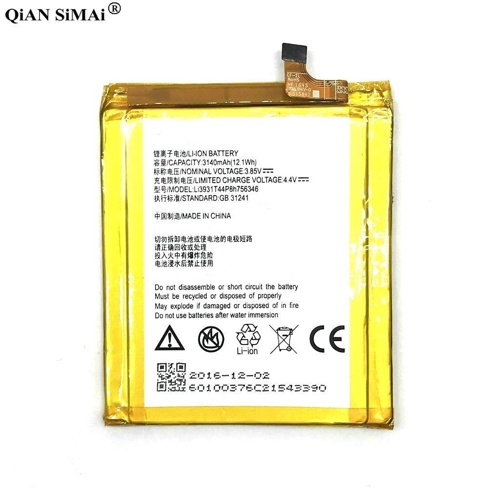High Quality LI3931T44P8H756346 3140mAh battery For ZTE Axon 7 5.5inch A2017 phone