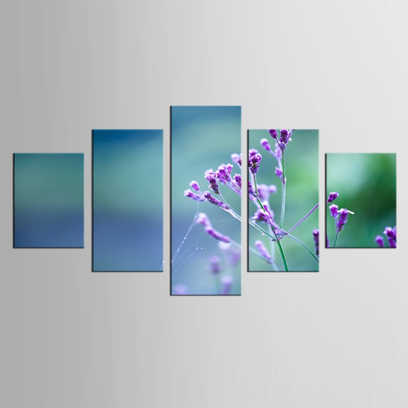 5 sztuk/zestaw duże HD obraz drukowany nowoczesne Oceanic drukowane niebieskie kwiaty dla domu dekoracyjne na płótnie zdjęcia ścienny