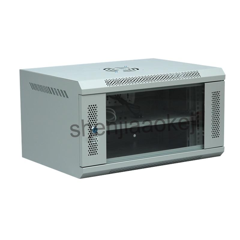 6U خزانة شبكة الحائط خزانة مراقبة ضعف صندوق كابينة كمبيوتر 220 فولت/110 فولت 1 قطعة