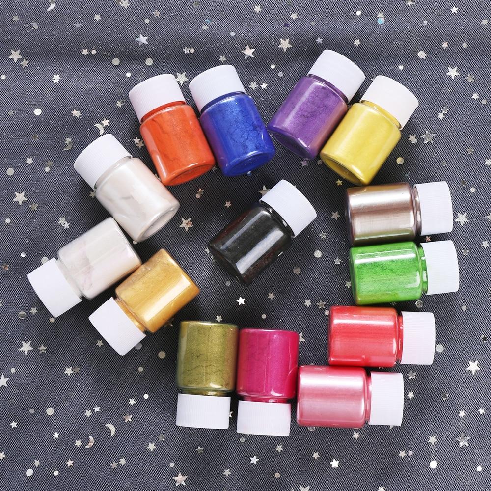 Tinte de jabón brillante, pigmentos en polvo de Mica para DIY, bomba de baño, fabricación de jabón, velas cosméticas, para fiestas, sombra de ojos, artesanías de resina 10g
