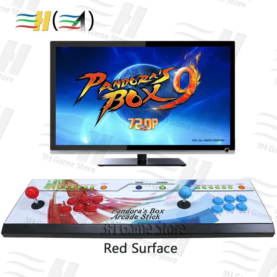 Caja Pandora integrada 9 1500 en 1, consola de juegos Arcade, tablero de juegos para 2 jugadores, botón led, joystick HDMI VGA usb para pc tv plug and play