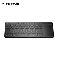 zienstar azerty french 2 4g wireless keyboard with touchpad for windows pc laptop ios pad smart tv htpc ip tv android box