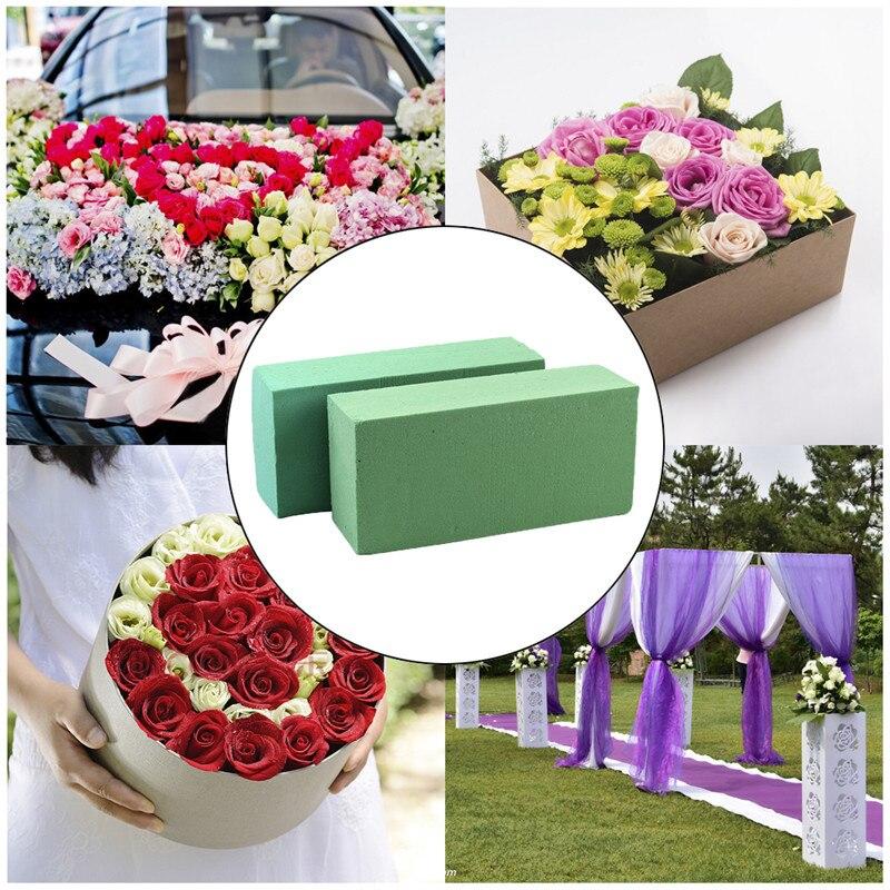 10Pcs Flower Holder Artificial Flower Floral Foam Brick Block for Wedding Florist Flower Arranging Design DIY Craft for Garden