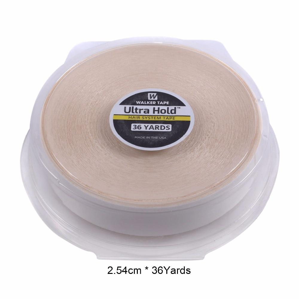 1 дюйм (2,54 см) * 36 ярдов прочная лента для волос ультра-удерживающая Двусторонняя лента для наращивания волос/парик из кружева/белый цвет