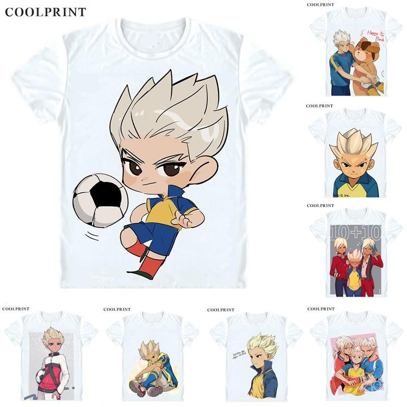 Coolprint Gouenji Shuuya T Shirt Inazuma Raimon Eleven Japan Men Casual TShirt Premium T-Shirt Printed Short Sleeve Shirts