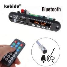 Kebidu bluetooth handfree carro kit 5 v-12 v mp3 player tf usb 3.5mm aux placa de decodificador áudio rádio fm para o carro para iphone android