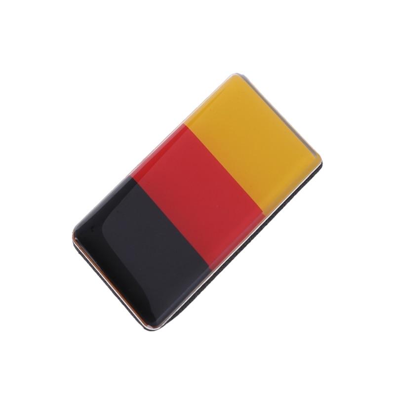 1pc German Flag Front Grille Sticker Emblem Badge For Volkswagen Golf Polo Audi